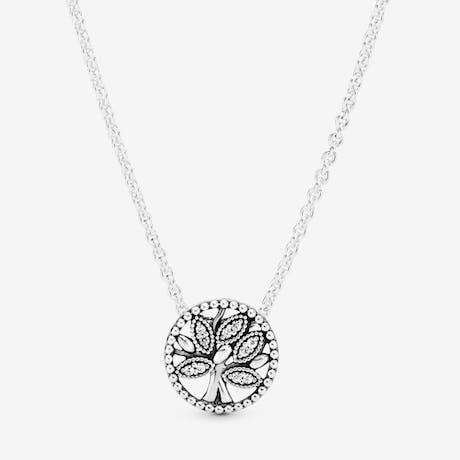Collana Pandora albero della Famiglia scintillante