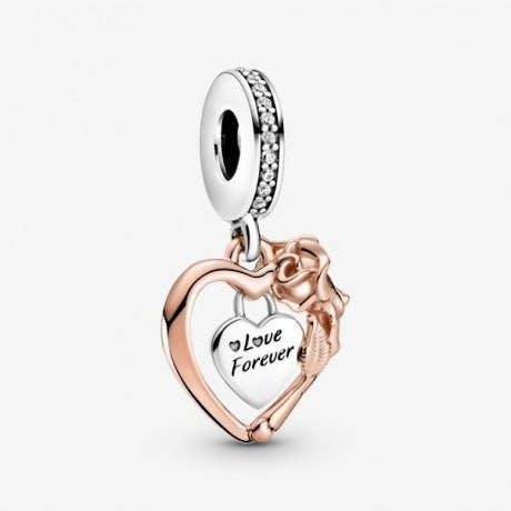 Charm pendente Cuore Rosa