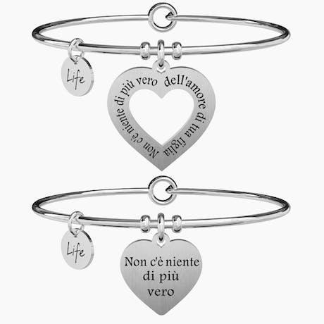 Coppia di bracciali Kidult mamma-figlia vero amore