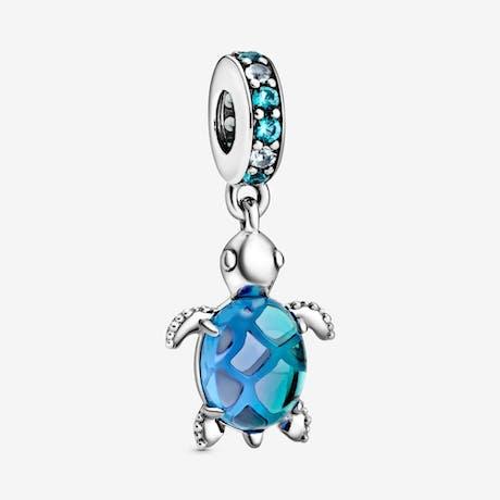 Charm pendente Tartaruga di mare in vetro di Murano