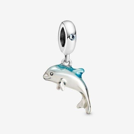 Charm pendente Delfino sfavillante