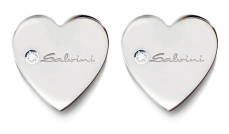 Orecchini Salvini I segni 9kt cuore oro bianco