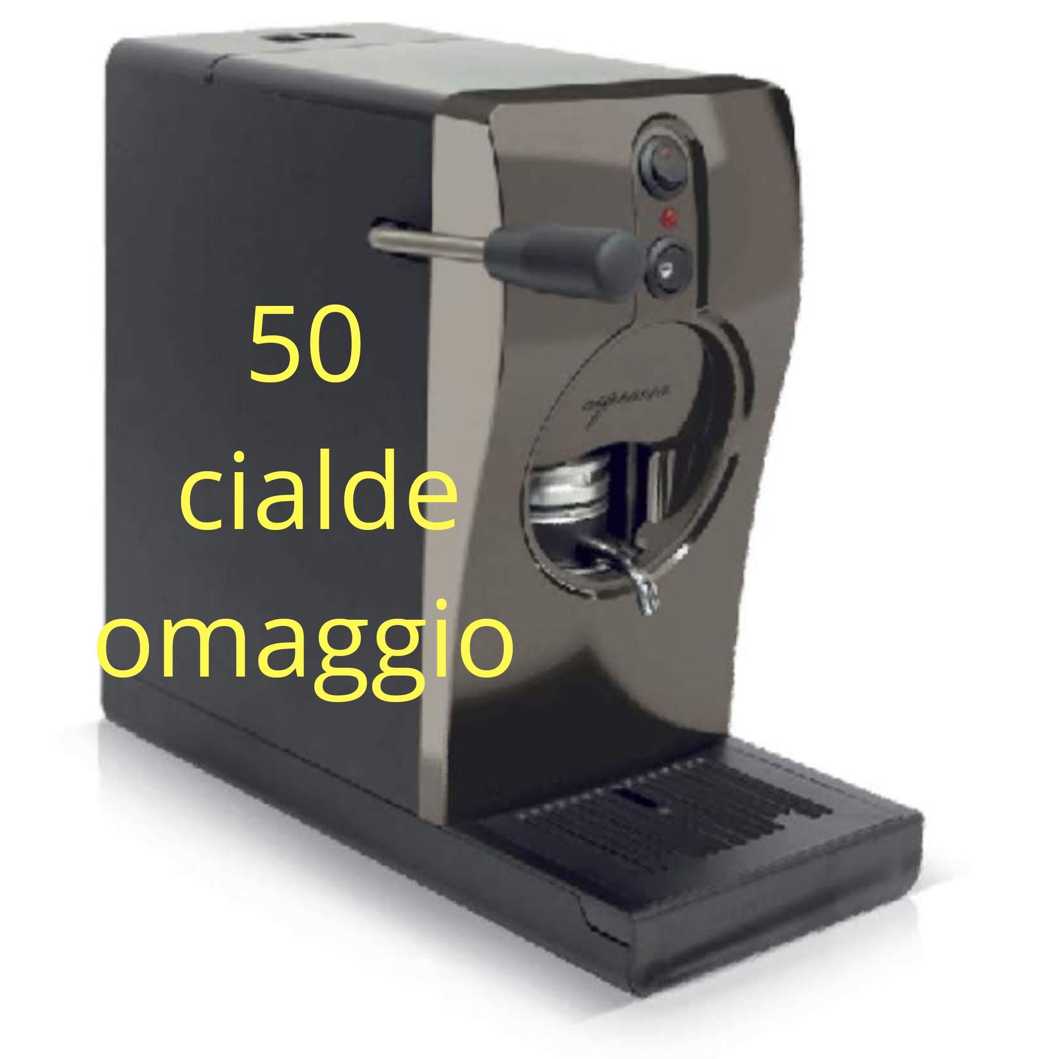 Macchina da Caffè a Cialde ESE 44mm Tube Nera Qualità Italia