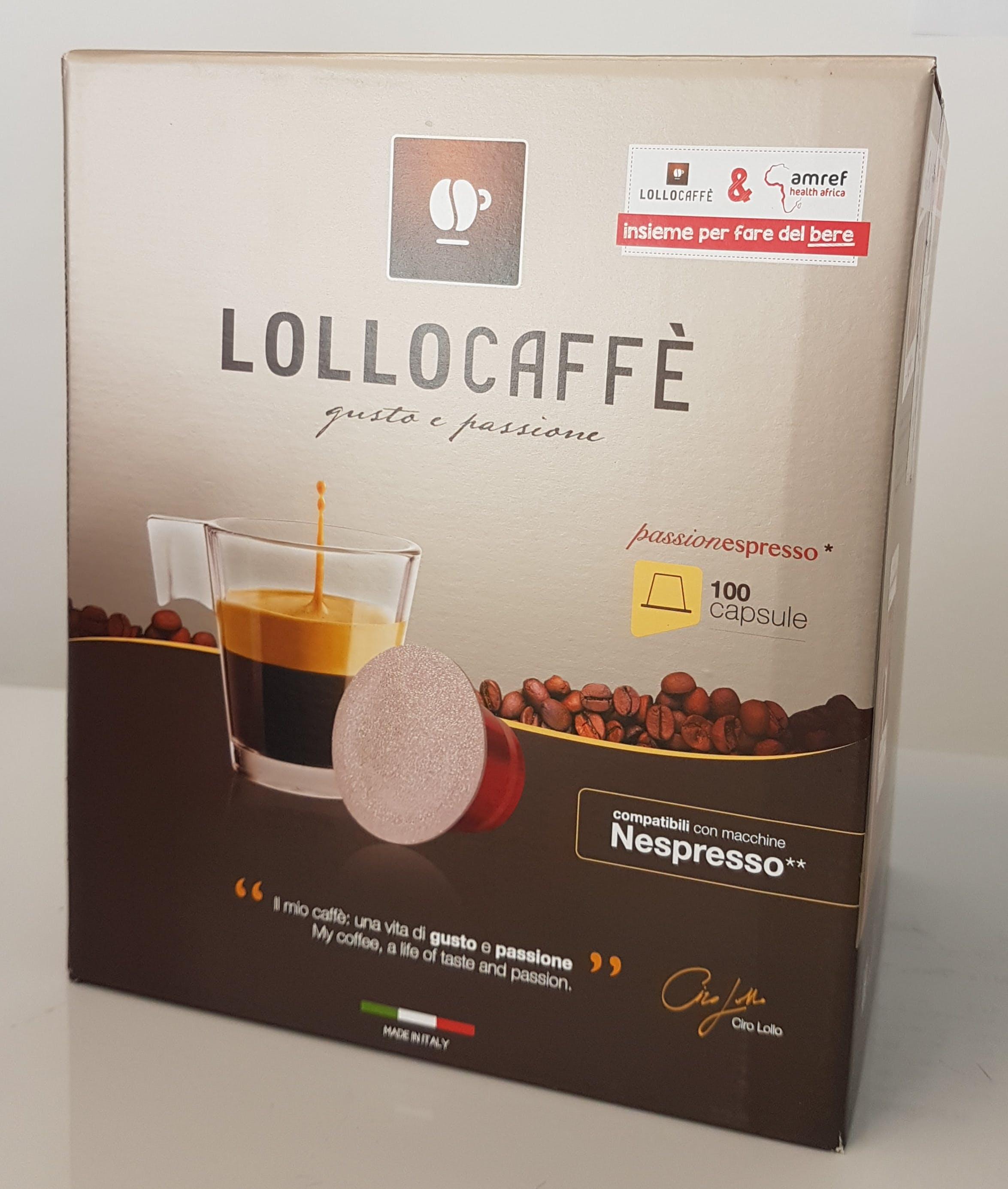 100 Capsule Lollo Caffè Classico Espresso Compatibili Nespresso