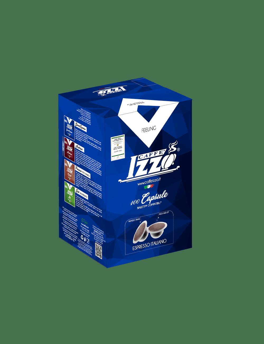 100 CAPSULE IZZO GRAND ESPRESSO COMPATIBILE BIALETTI