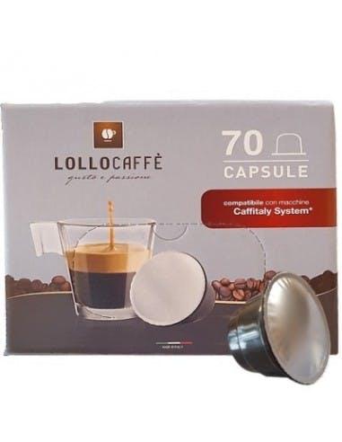 70 Capsule compatibili Caffitaly Lollo Caffè miscela Nero Espresso