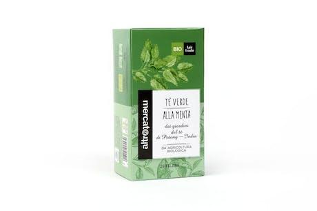 Tè Verde alla menta India biologico - 20 filtri 40gr