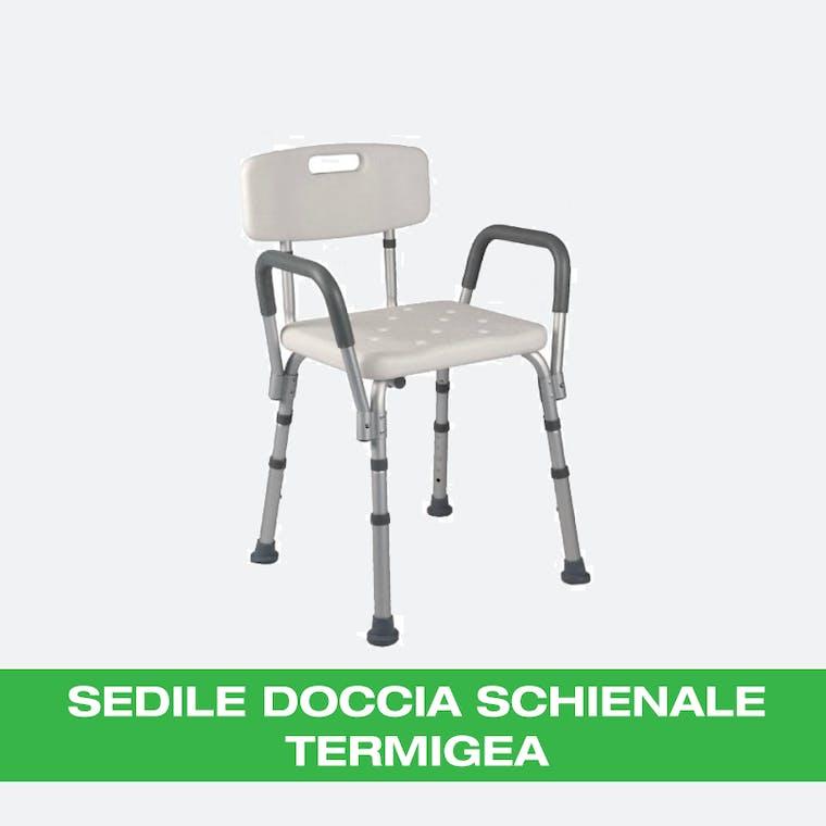SEDILE DA DOCCIA CON SCHIENALE
