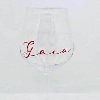 singolo calice da vino rosso