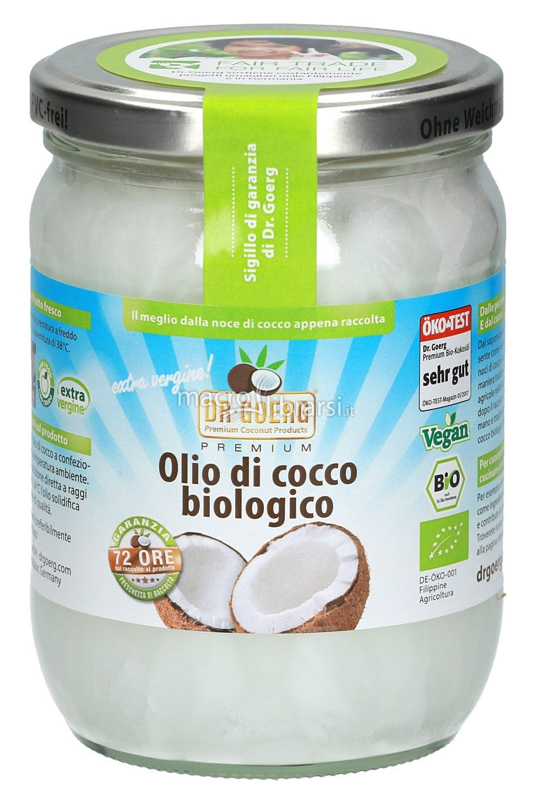 OLIO DI COCCO BIOLOGICO. VEGAN. 500ML