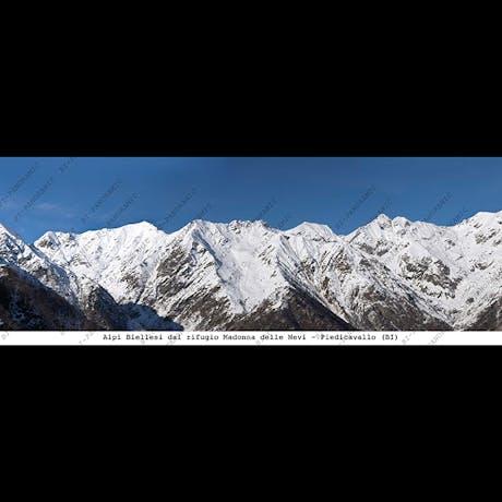 Alpi Biellesi dal rifugio Madonna delle Nevi cm.24 x 9