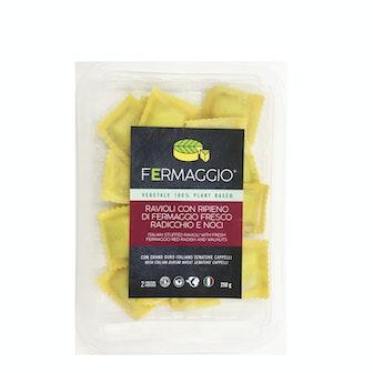 Ravioli con ripieno di crema di anacardi fermentata, radicchio e noci 250g