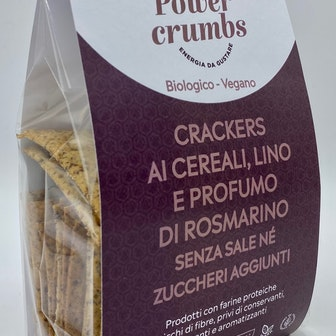 CRACKERS AI CEREALI, LINO E ROSMARINO senza sale
