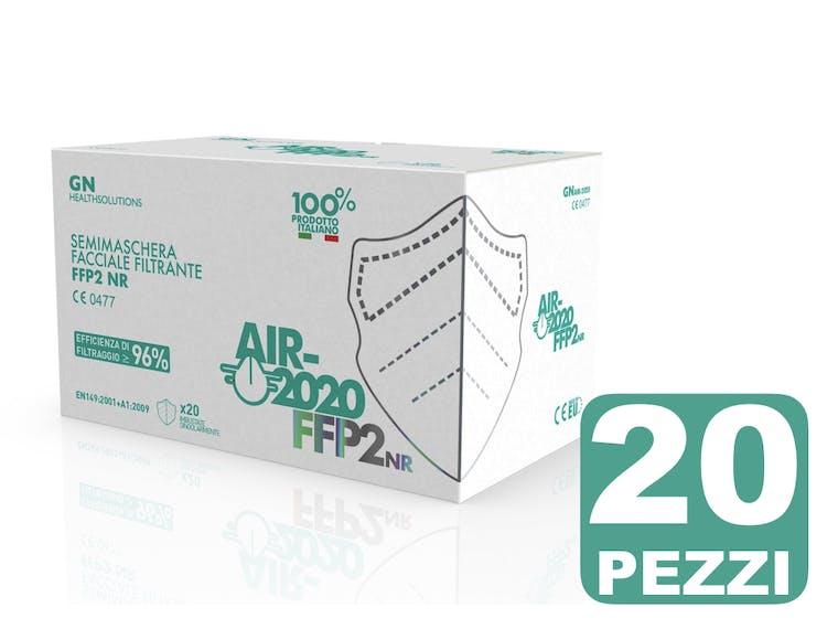 Mascherina AIR-2020 FFP2 NR CE 0477 Confezione 20 Pezzi - prezzo a mascherina