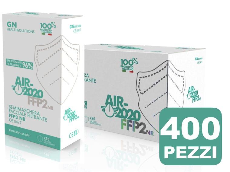 Mascherina AIR-2020 FFP2 NR CE 0477 pack 400 Pezzi - prezzo a mascherina