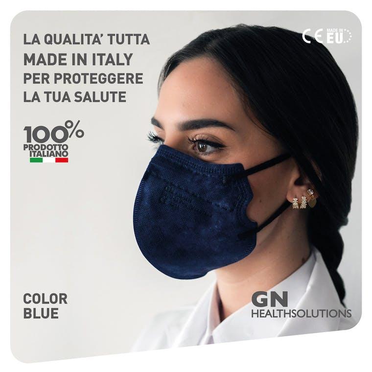 Mascherina FFP2 AIR-1919 BLU - CE 2834  EN 149 PPE-R/02.075 v.2 - 10 pezzi - prezzo a mascherina
