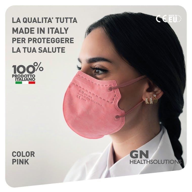 Mascherina FFP2 AIR-1919 ROSA - CE 2834  EN 149 PPE-R/02.075 v.2 - 10 pezzi - prezzo a mascherina