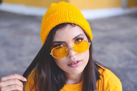 Yellow lens glasses