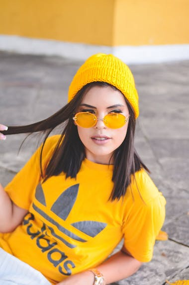 Yellow lens glasses
