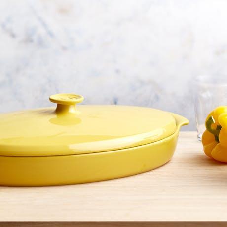 Teglia forno ceramica ovale con coperchio Emile Henry