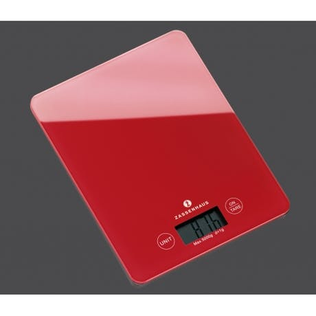 Bilancia digitale rossa