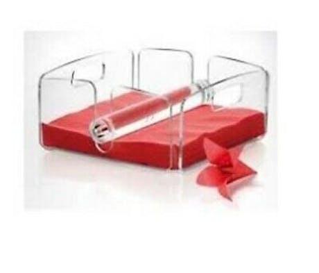 Portatovaglioli quadrato in plexiglass trasparente