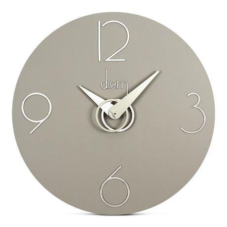 Orologio da parete Diem in PVC grigio, Ø40 cm