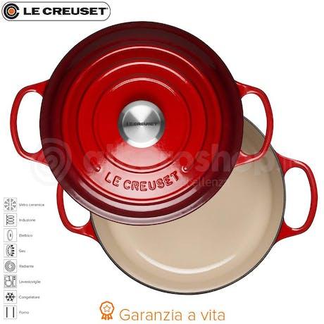 Le Creuset Cocotte Casseruola Rotonda In Ghisa Cm 24 Ciliegia