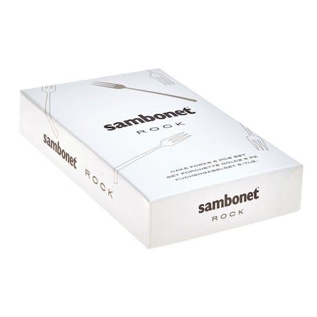 SAMBONET Set posate in acciaio Rock 6 forchette dolce