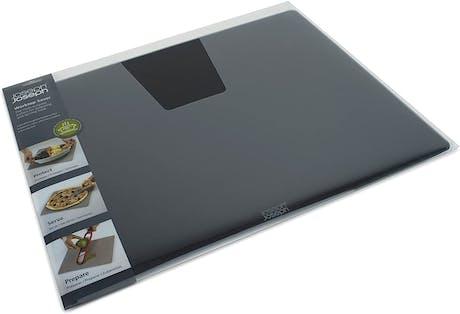 Tagliere in vetro Worktop Saver resistente al calore cm 15,8 x 19,7, nero Joseph Joseph