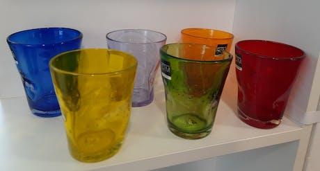 Set 6 bicchieri acqua cl31 colori assortiti Samoa