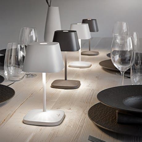 Lampada da tavolo Neapel Villeroy & Boch con batteria  bianco