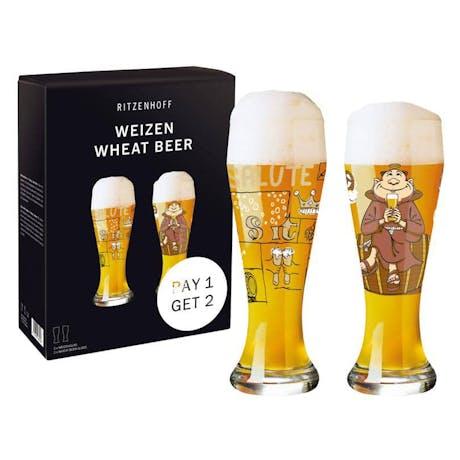 Set 2 bicchieri da birra Ritzenhoff Weizen Salute