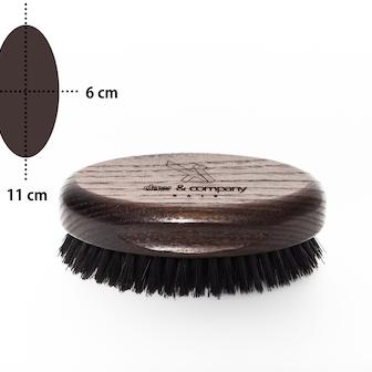 Spazzola ovale barba e capelli in legno Daw