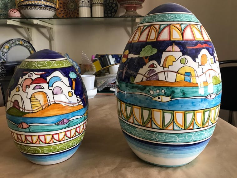 ceramic egg 20 cm