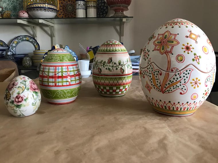 ceramic egg 30 cm