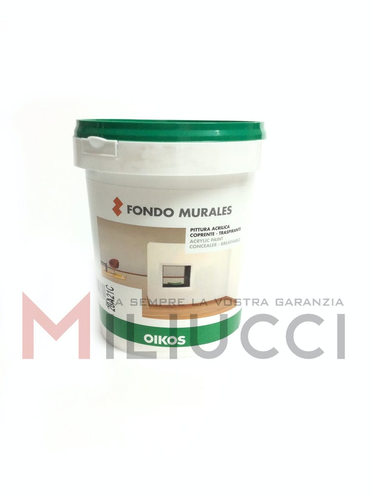 PITTURA ACRILICA COPRENTE - TRASPIRANTE - FONDO MURALES - OIKOS