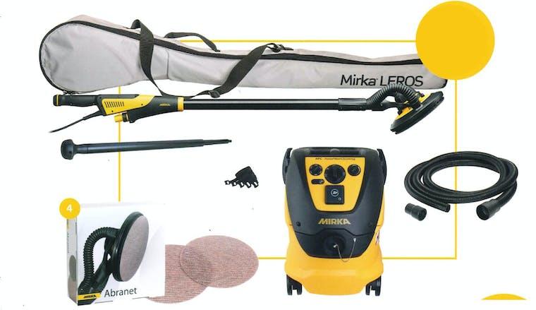 Mirka LEROS + aspiratore 1230 L AFC + tubo + prolunga + 100 ABRANET
