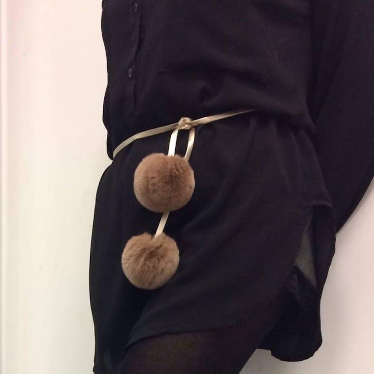 cintura in peluche