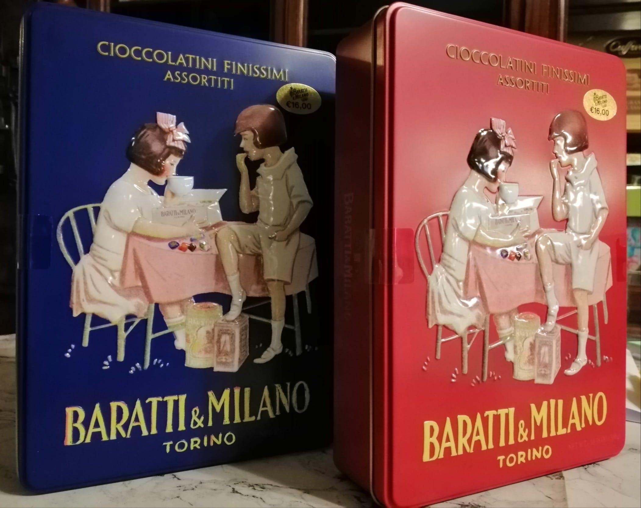 Baratti & Milano, Latta ROSSO cioccolatini assortiti