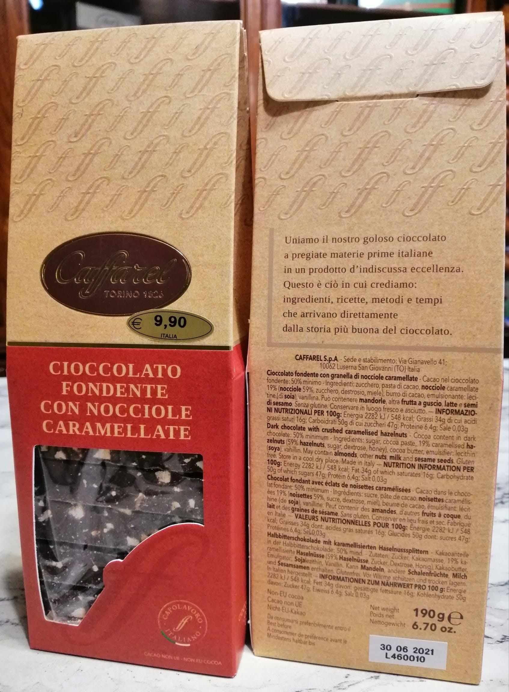 Caffarel, Cioccolato fondente con nocciole caramellate
