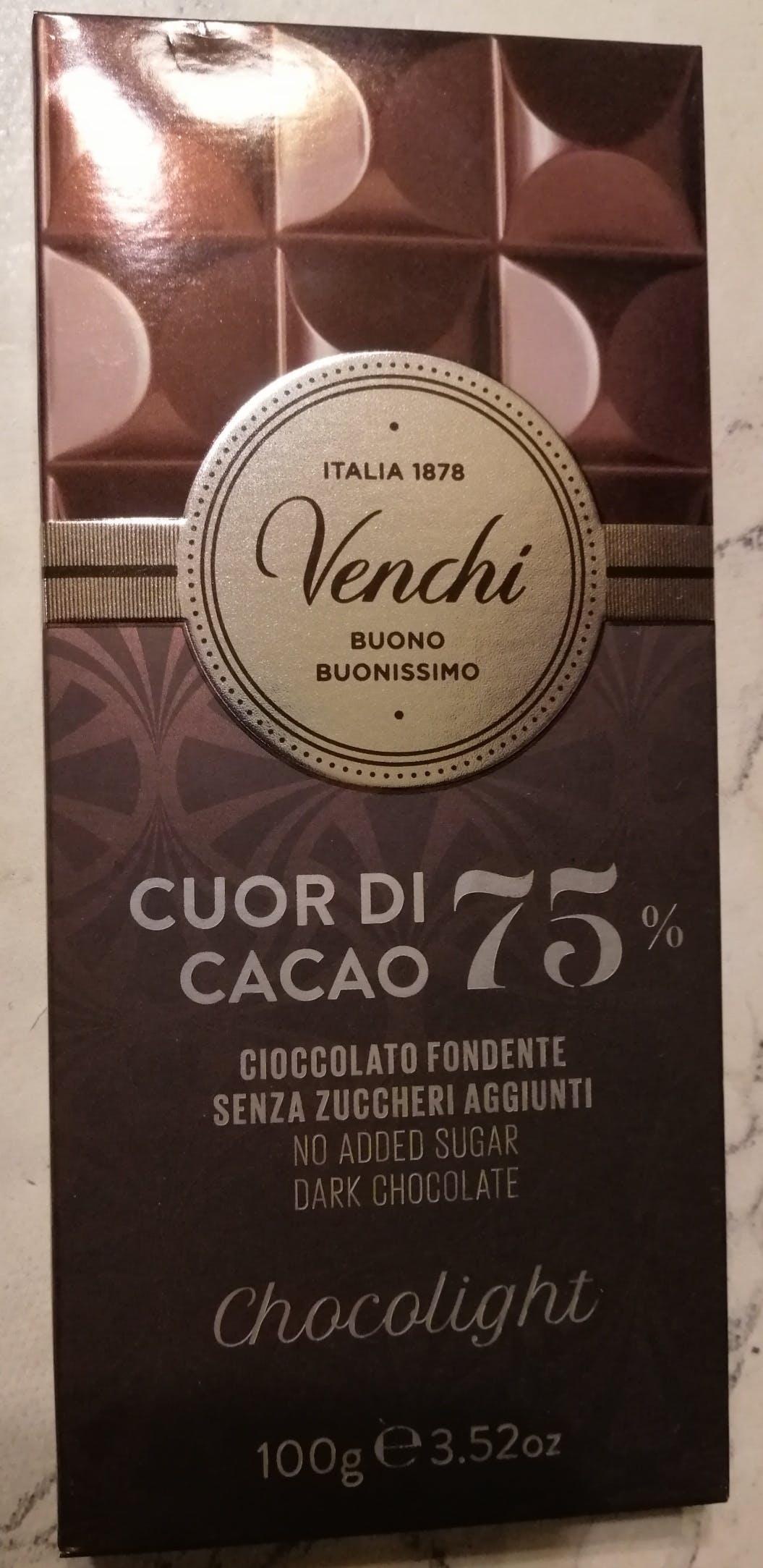 Venchi, Tavoletta senza zucchero Chocolight