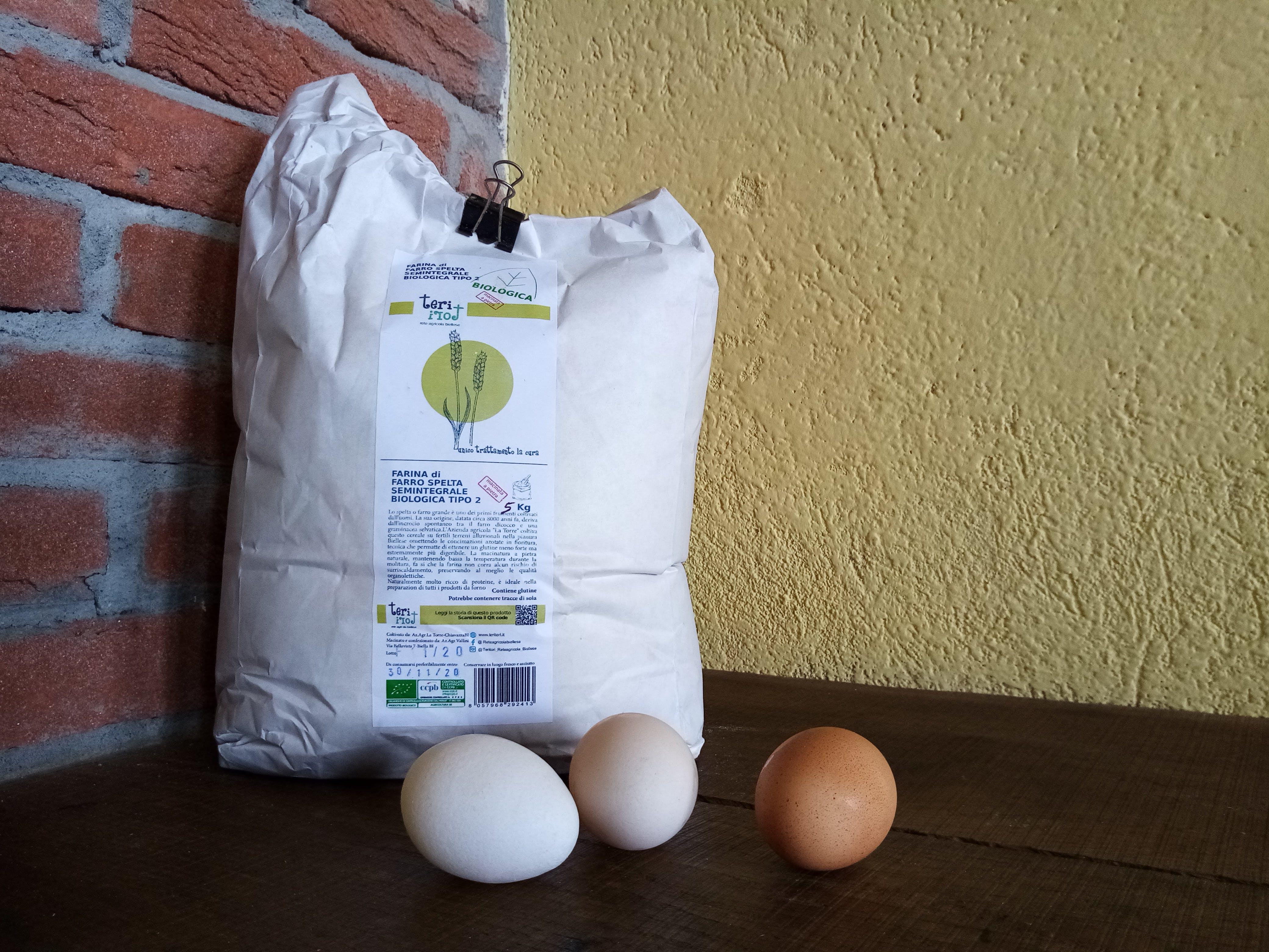 Farina semintegrale di Farro spelta Bio macinata a pietra 5kg