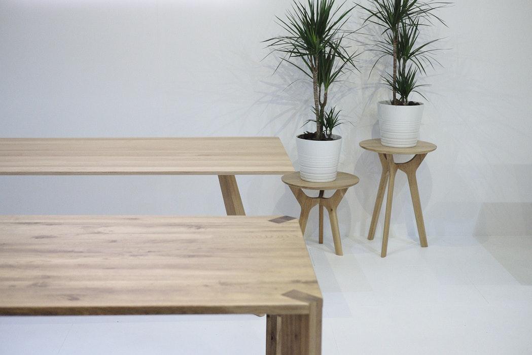 Wood garden table